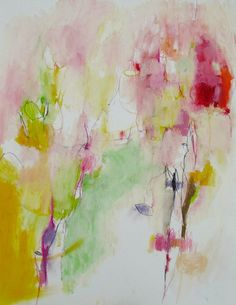 "Saatchi Art Artist: Mary Ann Wakeley; Mixed Media 2013 Painting ""Field of Love"""