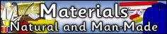 Materials - Natural and Man-Made display banner (SB7870) - SparkleBox
