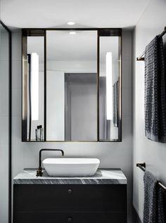 Australian Interior Design Awards - The Melburnian by Studio Tate Bathroom Design Inspiration, Modern Bathroom Design, Bathroom Interior Design, Design Ideas, Interior Inspiration, Bathroom Designs, Australian Interior Design, Interior Design Awards, Public Bathrooms