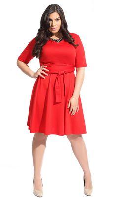 AbbeyPost Kelly A-Line Dress with Obi Belt, $185
