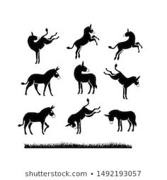 Donkey Logo, Horse Template, Donkeys, Line Drawing, Icon Design, Diana, Moose Art, November, Clip Art
