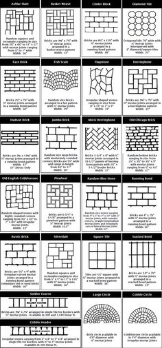Patio paver ideas for your garden or backyard. Stone, brick, and block paver design ideas. Concrete Patios, Stamped Concrete Driveway, Backyard Patio, Backyard Landscaping, Diy Patio, Landscaping Edging, Landscaping Ideas, Budget Patio, Stencil Concrete
