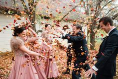 When a venue won't allow you to throw confetti - make use of the gorgeous Autumn colours and use natures confetti - colourful autumn leaves! Photos by Hilary Cam Photography  #confetti #autumn #naturalconfetti #confettialternative #Autumn #leaves #leaffight #bridalparty #fun #funweddingphotos #BendooleyEstate #southernhighlands  #countrywedding Gun Wedding, Wedding Shoot, Fall Wedding, Confetti Photos, Country Style Wedding, Autumn Weddings, Autumn Colours, Brides And Bridesmaids, Highlands