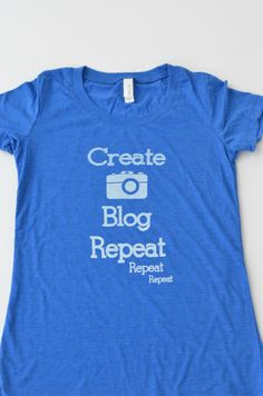 Blogger Life Tee Fitted Womens Graphic Tee in cobalt blue by ThatChicMomTees