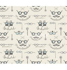 Glasses labels sketchy drawing seamless pattern vector by Popmarleo on VectorStock®