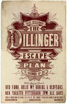 The Dillinger Escape Plan Poster