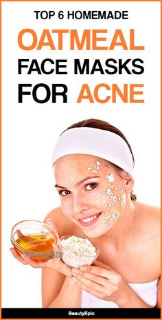 Oatmeal Face Masks for Acne Face Scrub Homemade, Homemade Skin Care, Homemade Blush, Easy Homemade Face Masks, Oatmeal Face Mask, Homemade Oatmeal, Acne Face Mask, Acne Skin, How To Treat Acne