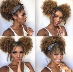 Afro Kinky Curly Hairstyle - That is why I always love the afro kinky curly hair. Pelo Natural, Natural Hair Tips, Natural Hair Styles, Curly Hair Styles, Kinky Curly Hair, Cute Natural Hairstyles, Afro Hairstyles, Stylish Hairstyles, Ethnic Hairstyles