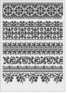 "Photo from album ""Сокальська вишивка"" on Yandex. Cross Stitch Borders, Cross Stitch Samplers, Cross Stitch Charts, Cross Stitching, Cross Stitch Patterns, Fair Isle Knitting Patterns, Knitting Charts, Knitting Designs, Loom Beading"