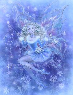 Christmas Fairy in Blue by aruarian-dancer.deviantart.com on @deviantART