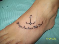 anchor with words tattoo by dannewsome on deviantART Anchor Tattoos, Word Tattoos, Pacific Blue, Tattoo Quotes, Deviantart, Words, Horse, Inspiration Tattoos, Navy Anchor Tattoos