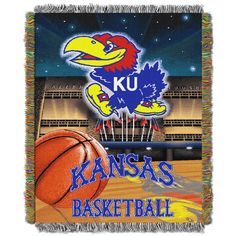 NCAA Kansas Tapestry Throw