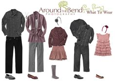 What To Wear For Family | Here is an example for dressing your family for your Fall Portraits ...
