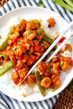 Hoisin Ginger Chicken Stir Fry - my family went crazy over this chicken and gobbled it up in minutes! So many layers of flavor - definitely some of the best fakeout takeout I've ever tried! Definitely a keeper!