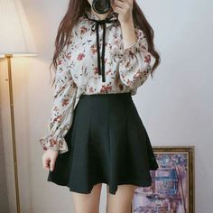 Ulzzang fashion, k fashion, korea fashion, kawaii fashion, korean fashion t Korean Fashion Trends, Korea Fashion, Asian Fashion, Kawaii Fashion, Cute Fashion, Womens Fashion, Cute Casual Outfits, Pretty Outfits, Black Pink
