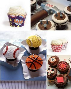 So the men are playing poker, watching football and having a manly time. You may think that entails burping, goofing around and plenty of beer. Well, these things are true but we've yet to meet a man that would turn down a delicious cupcake if he were presented with such.