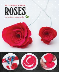 Kentucky Derby® DIY #2: Crepe Paper Roses Tutorial (thinking I could do this with felt too?)