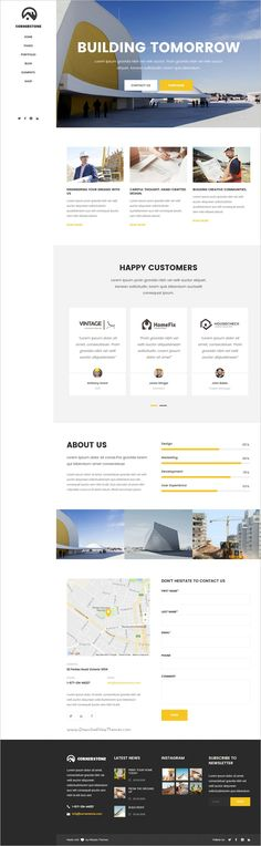 Cornerstone is a professional responsive #WordPress theme for Construction, #Builder & #Contractor companies website with 10 unique homepage layouts download now➩ https://themeforest.net/item/cornerstone-a-professional-construction-builder-contractor-theme/18939827?ref=Datasata