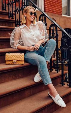trendy: puffy sleeves, a manga bufante, hot or not? – RG PRÓPRIO by Lu K Vilar Cute Casual Outfits, Chic Outfits, Casual Chic, Spring Outfits, Fashion Outfits, Womens Fashion, Mein Style, Look Chic, Looks Style