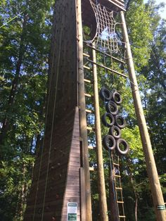 This would be a fun climb to a zip line! Zip Line Backyard, Backyard Play, Backyard For Kids, Backyard Projects, Backyard Patio, Backyard Treehouse, Playground Design, Outdoor Playground, Cool Playgrounds