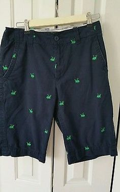 Old Navy Womens Navy and Lime Whale Shorts Size 29