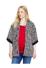 Maternity Abstract Print Kimono Top,