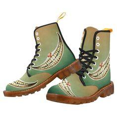 Fairy Tale Wonderland Smile Cheshire Cat honey Martin Boots For Men