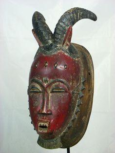 Fine African Tribal Mask BAULE KPAN Mask African Art