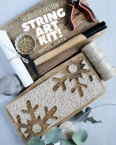 Modern string art kit for adults and kids contains step by step instructions and all necessary tools to make your own string art masterpiece.