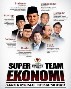 In Shaa Alloh 😍..  Dengan Super Team Ekonomi Prabowo - Sandi,  Harga Murah, Kerja Mudah.   #PrabowoSandi  #AdilMakmur 2⃣ Allah, Ps, Presidents, Campaign, Politics, Facts, History, Memes, Books