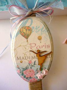Romantic Paris Easter Candle