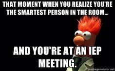 I can relate with the 504 plan meetings.