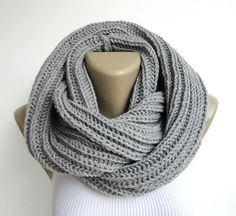 gray scarf men scarves women scarf knitted by senoAccessory, $35.00