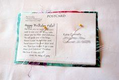 tutorial: fabric postcards