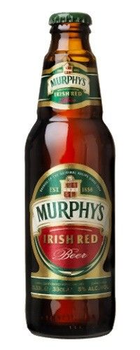 Cerveja Murphy's Irish Red Beer, estilo Irish Red Ale, produzida por Murphy´s, Irlanda. 5% ABV de álcool.