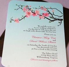 pretty Cherry Blossom wedding invite! :)