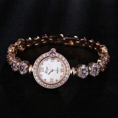 Beautiful Rose Gold Waterproof Ladie's Watch