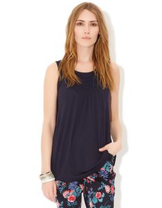 Maris Embellished Neckline Top | Navy | Monsoon