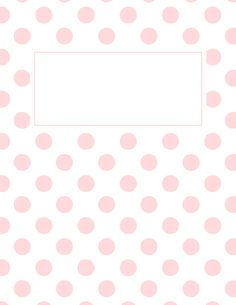 Free printable hot pink and white polka dot binder cover template. JPG and PDF versions available. Notebook Cover Design, Notebook Covers, Journal Covers, School Binder Covers, Binder Cover Templates, Weekly Planner Printable, Printable Calendars, Home Management Binder, Diy School Supplies