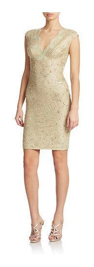 Julian Joyce Sequined Lace Sheath Dress - on #sale 59% off @ #Lord&Taylor