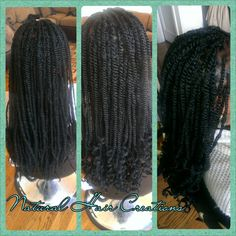 Long kinky twists natural hair
