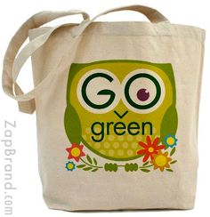 Go Green Owl bag from Zap Brand