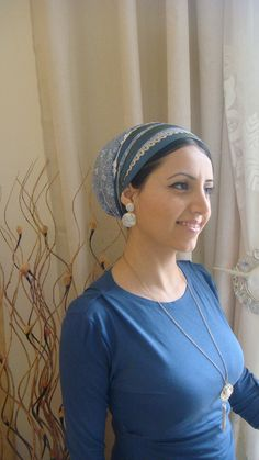 apron design headscarf tichel, wrap stripes around your head get layered look