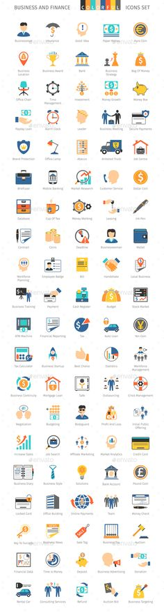 Business and FIinance Colorful Icons #design Download: http://graphicriver.net/item/business-and-fiinance-colorful-icons/13233044?ref=ksioks