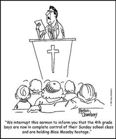 we interrupt this sermon...