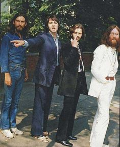 """""""The Beatles before their iconic Abbey Road shot."""" http://www.viralnova.com/rare-historical-photos-gallery/3/"""