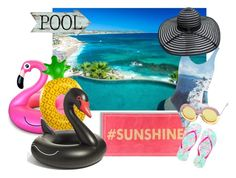 """""""Fun in the Sun: : D"""" by consuelor ❤ liked on Polyvore featuring interior, interiors, interior design, home, home decor, interior decorating, Lilly Pulitzer, Orlebar Brown, Big Mouth and poolfloats"""