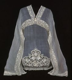 Philippines, Blouse, 19th century  Pina (pineapple) cloth, plain weave; needlework in cotton thread