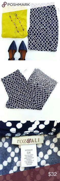Dressbarn Roz & Ali Palazzo Pants Pants feature:  Polkadot print Soft, strechy & very lightweight  Elastic waistband  95% Polyester 5% Spandex Dress Barn Pants
