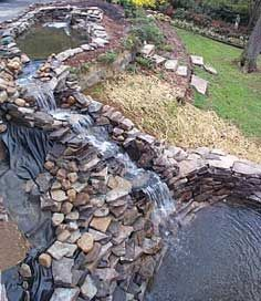 lots of movement.  Have to think about natural drainage coming off the hill and how that would affect my pond. Hmmmmm.....